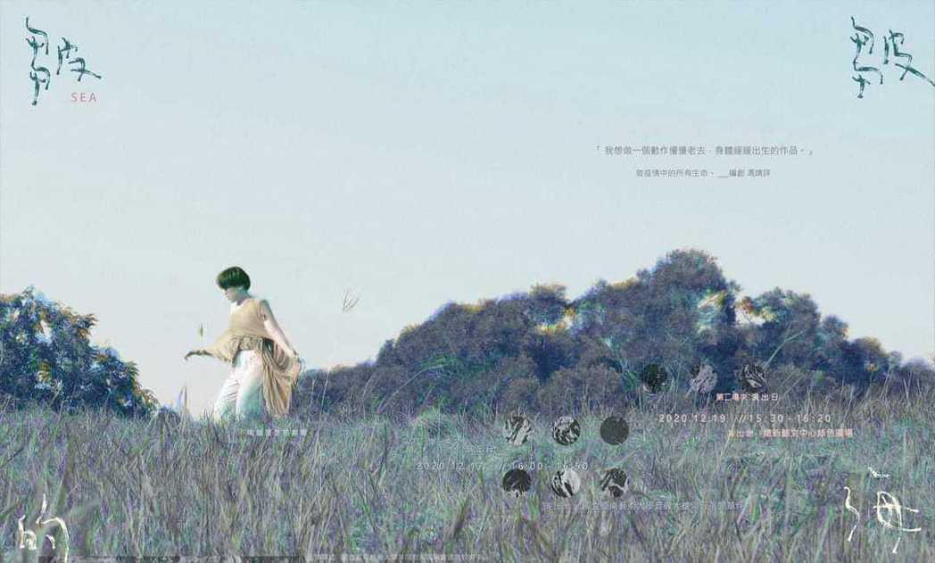 南藝大班芝花劇團最新舞蹈劇場作品《皺皺的海》海報。 南藝大/提供。
