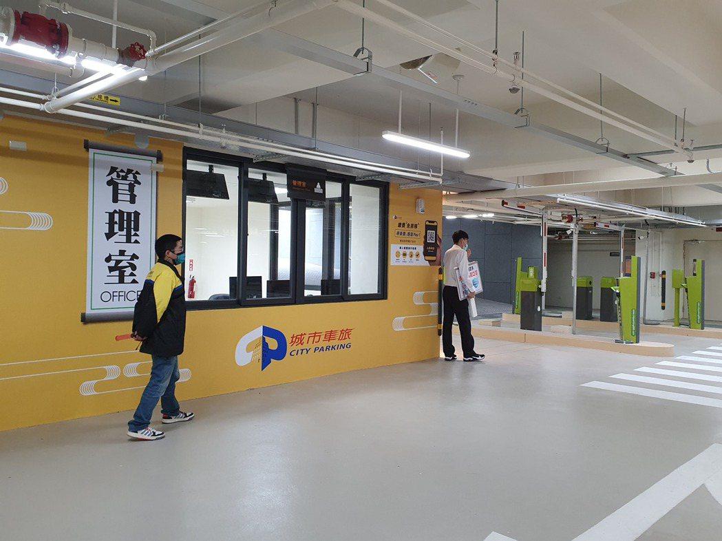 桃園區文昌公園地下停車場今天啟用。記者陳夢茹/攝影