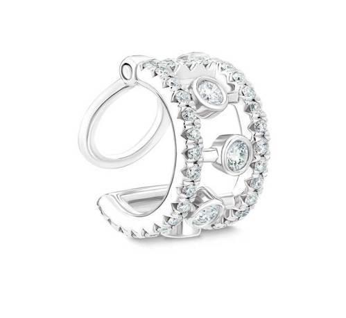 DE BEERS Dewdrop 18K白金鑽石耳骨夾,50,000元。圖/DE...