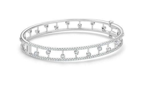 DE BEERS Dewdrop 18K白金鑽石手環,34萬9,000元。圖/D...