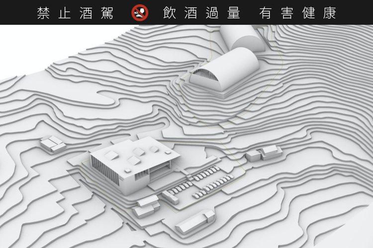 著名建築師Akira Sogo所設計的蒸餾廠模型。圖/KDI提供。提醒您:禁止酒...