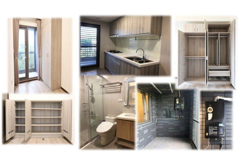 明倫社宅興建豪華,44坪3房型最高租金達4萬500元。圖/北市府提供