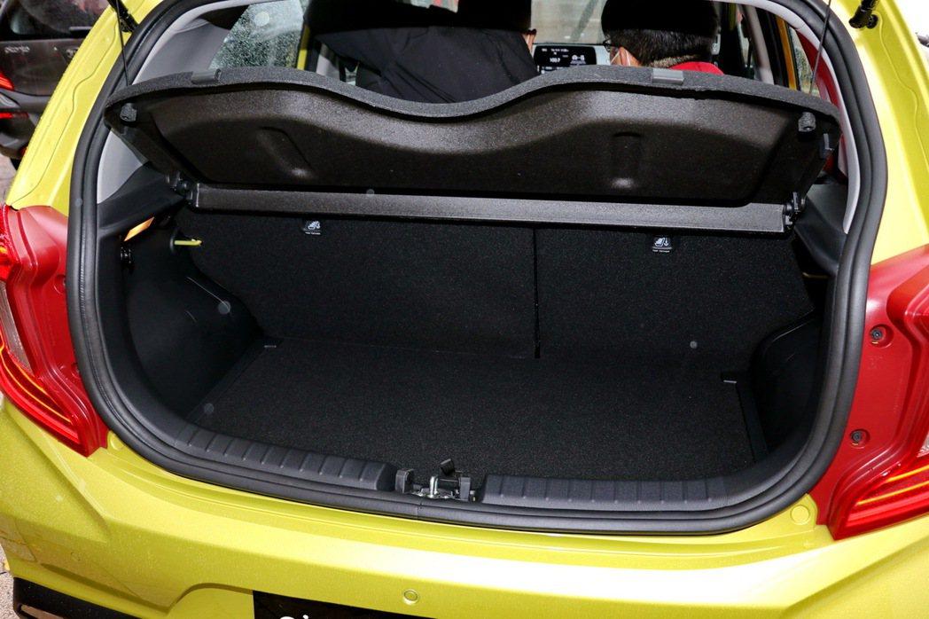 All-new Picanto擁有255公升至最大1,010公升(傾倒第二排座椅...