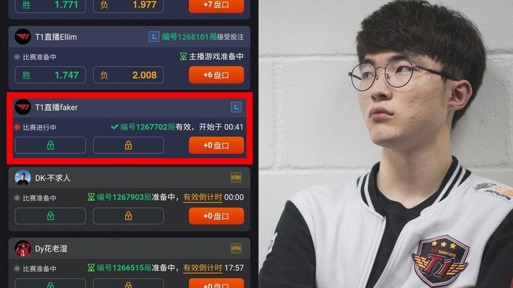賭盤截圖推特@HyunJaeLee6|Faker 來源:lolesportsfl...