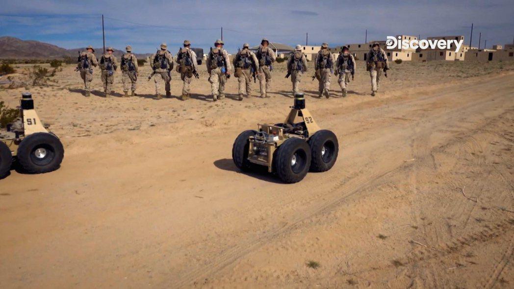 現代戰場上其實已經有人工智慧設備的使用。圖/Discovery提供
