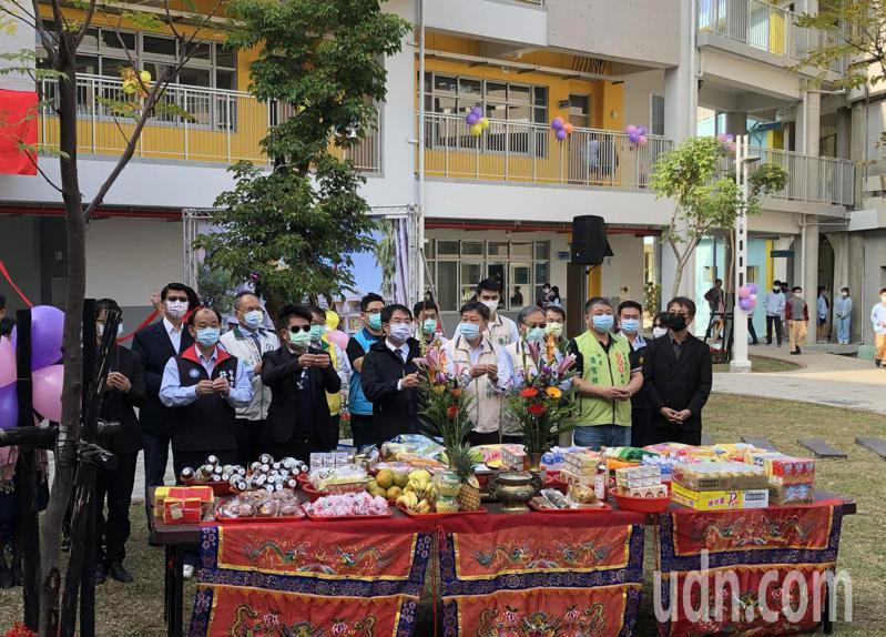 台南市民德國中舊校舍拆除重建工程今天落成,展現新風貌。記者鄭惠仁/攝影