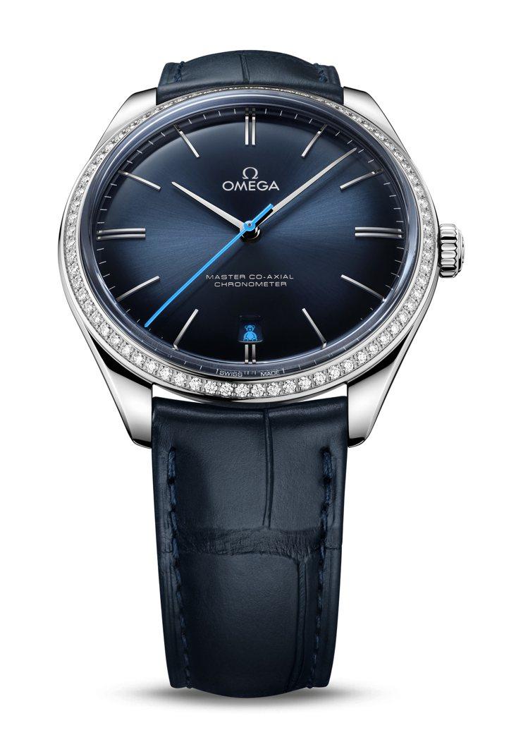 OMEGA De Ville ORBIS主題腕表,白金、40毫米、時間顯示、表圈...