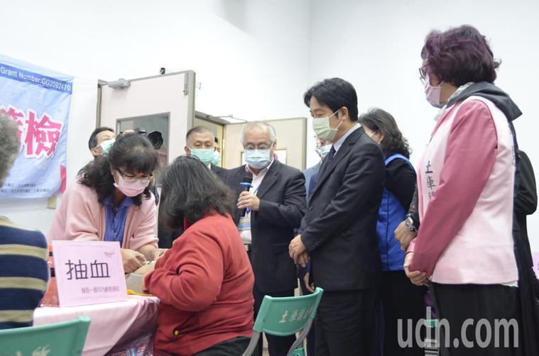 副總統賴清德今天出席土庫鎮公所免費肝炎篩檢活動。記者陳苡葳/攝影