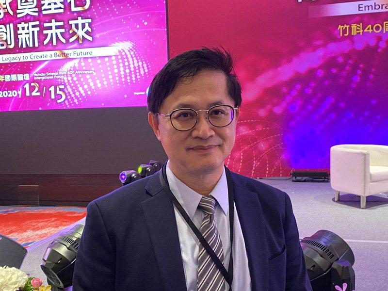 和碩董事長童子賢今(15)日出席竹科四十週年國際論壇。  記者吳凱中/攝影