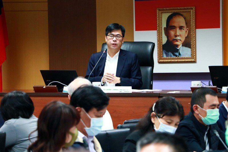 高雄市長陳其邁主持「嚴重特殊傳染性肺炎」應變會議。圖/高雄市政府提供