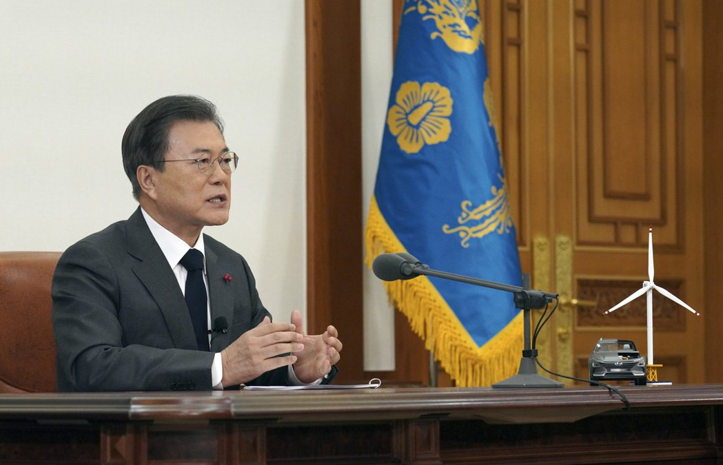 韓國總統文在寅寫信道賀拜登當選美國總統。歐新社