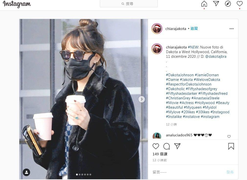 達珂塔強生手上的戒指引發已訂婚的揣測。圖/摘自Instagram