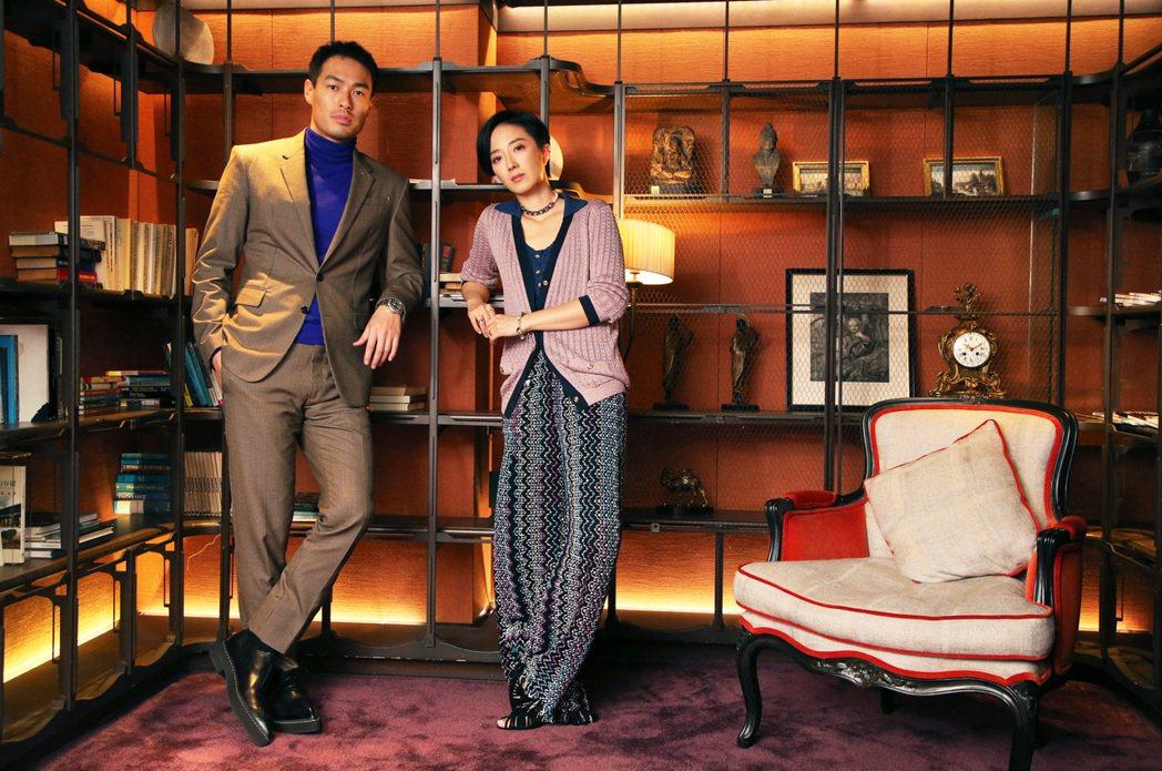 楊祐寧(左)、桂綸鎂(右)在「腿」中有許多精采的對手戲。記者胡經周/攝影