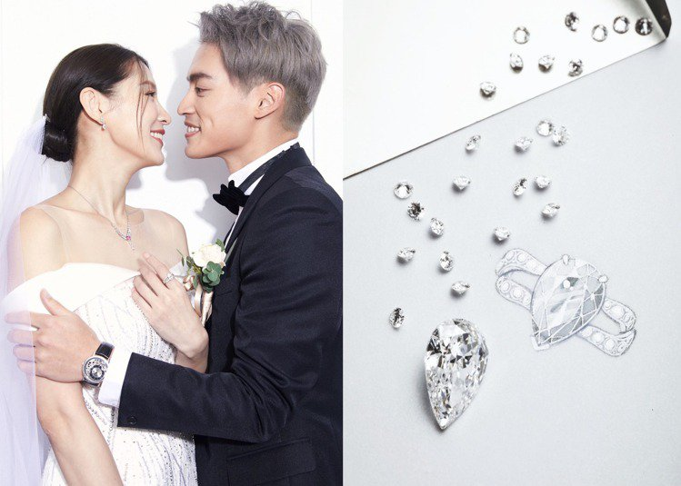 12月12日結婚的雙「孟」許孟哲和趙孟姿,婚禮上的閃耀羨煞眾人。圖/PIAGET...