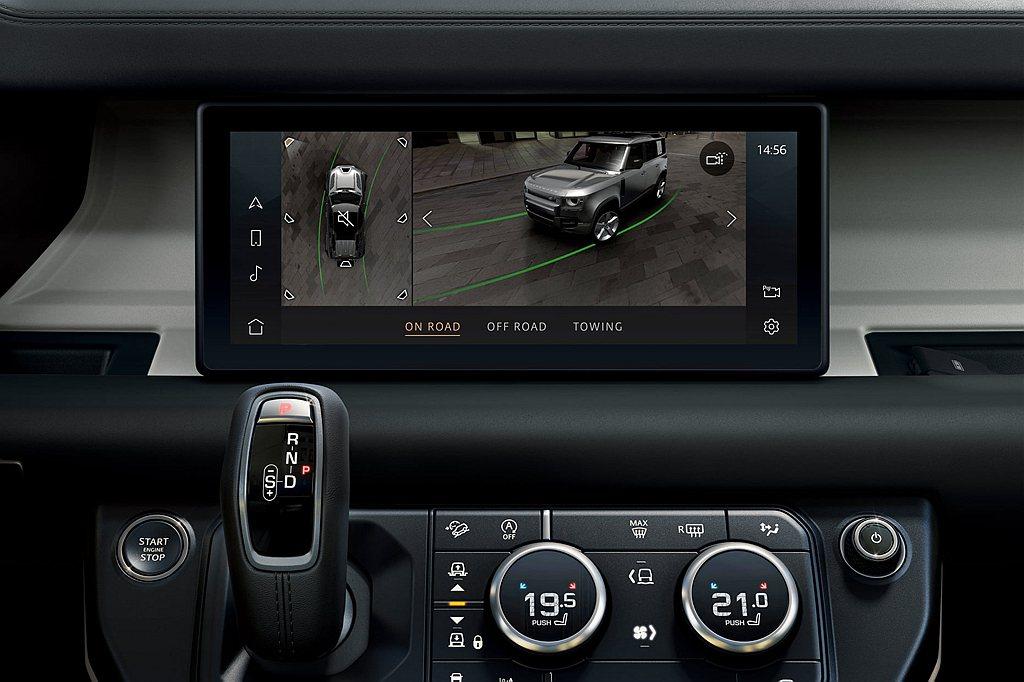 360度3D環景顯影系統。 圖/Land Rover提供