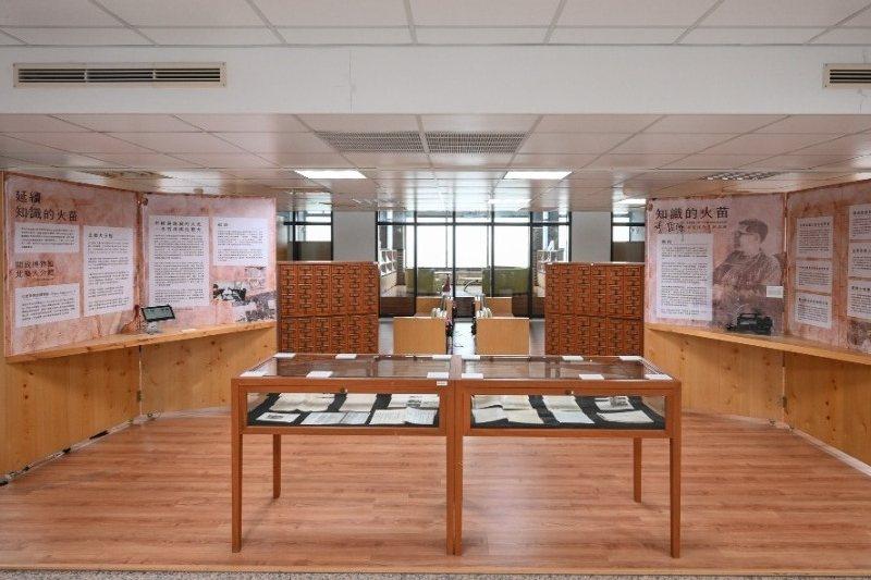 北藝大在校內圖書館四樓舉辦「知識的火苗」李哲洋文物紀念展,展期自2020年11月28至2021年1月31日。 圖/北藝大官網