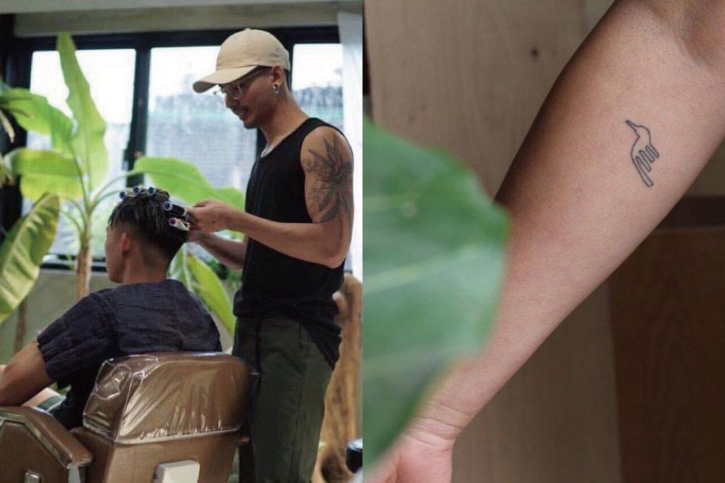 由「敷地計畫」與「OF Tattoo」擔任河邊耶誕節限定的理髮師與刺青師。 圖/...