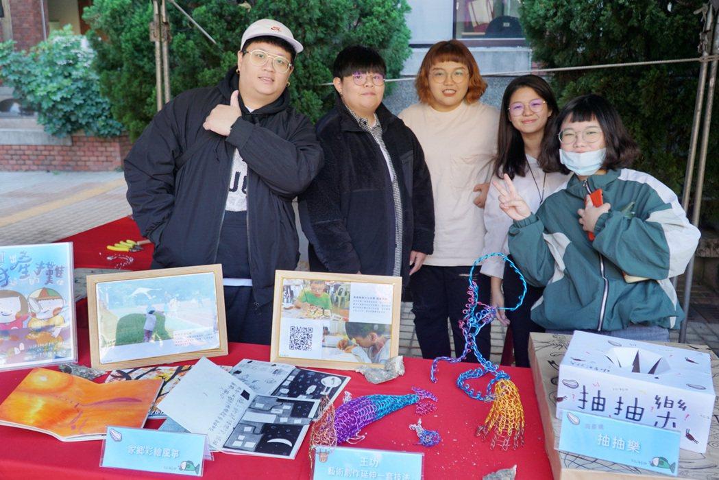 大葉大學參與彰南農村再生計畫的學生,展出相關成果。 大葉大學/提供。