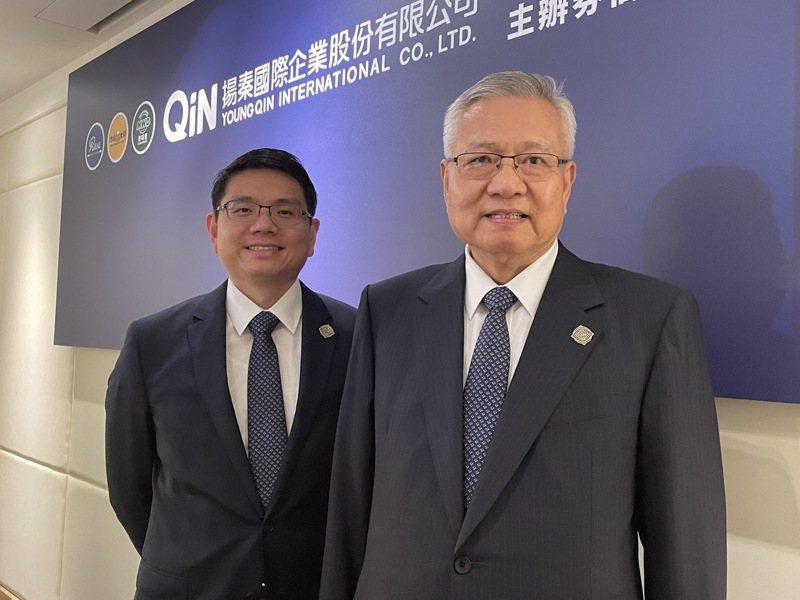 圖左為揚秦國際執行長卓靖倫、右為董事長卓元裕。記者林海/攝影