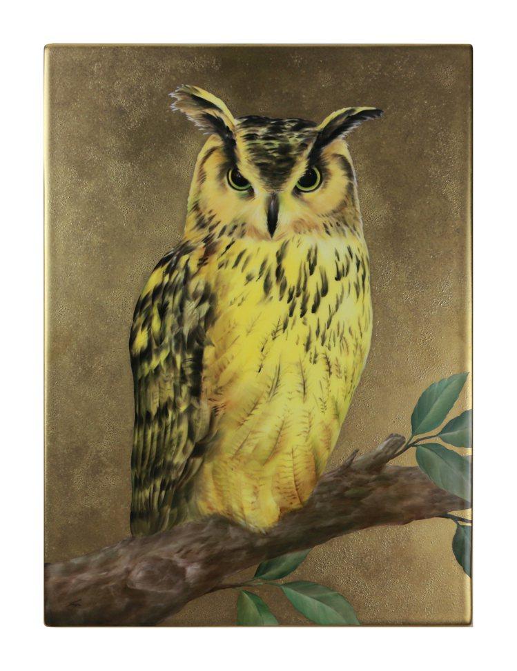 Noritake手繪招財貓頭鷹-陶版畫/31萬8,00元。圖/旺代提供