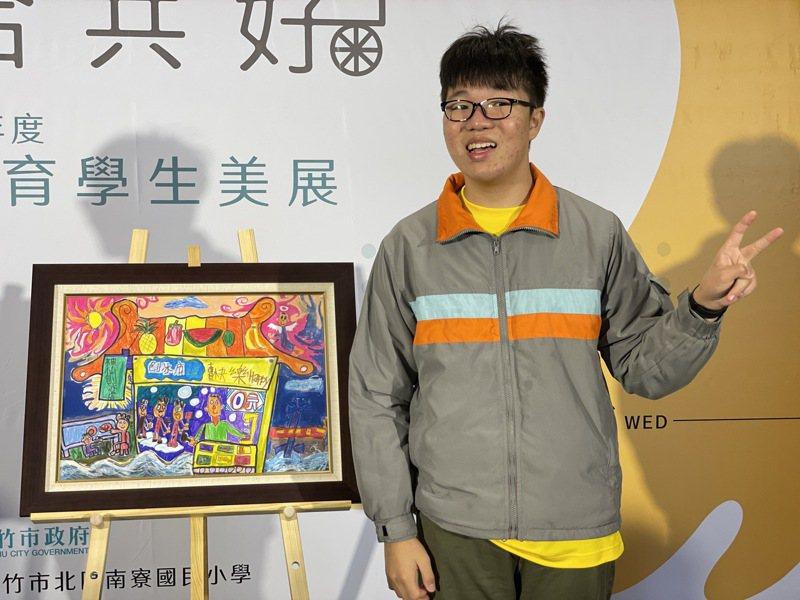 光武國中傅郁翔「神仙刨冰店」要跟大家「免費」分享他的快樂。圖/新竹市政府提供