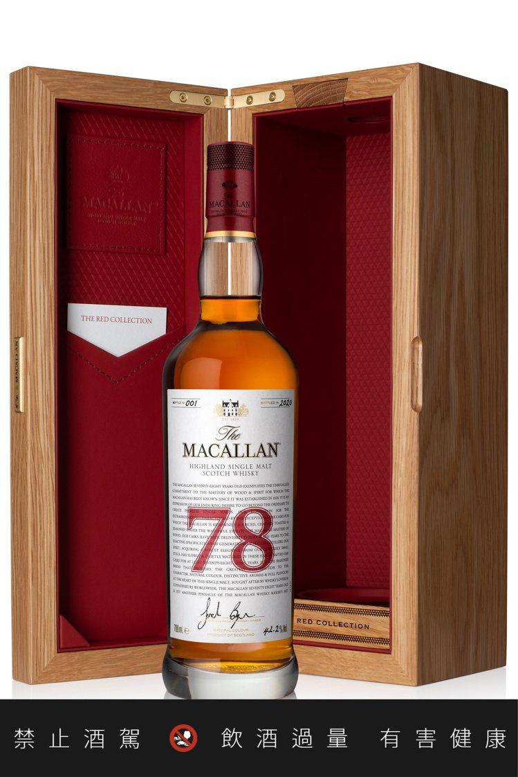 酒款被悉心盛裝在一個橡木展示盒中,裡頭襯有柔軟紅色蘇格蘭皮革,呵護被封藏的歷史。...