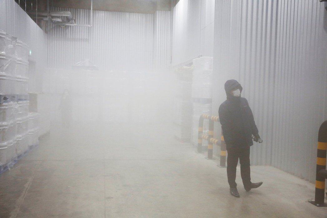 韓國儲存輝瑞新冠疫苗的超低溫倉庫。路透