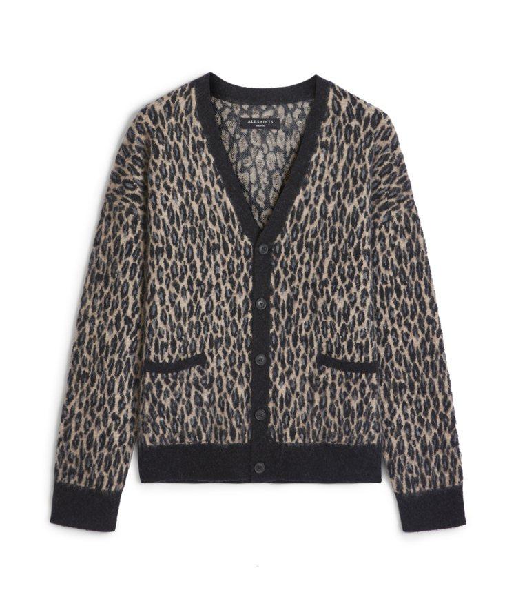 AllSaints Neko豹紋印花針織衫9,000元。圖/AllSaints提...
