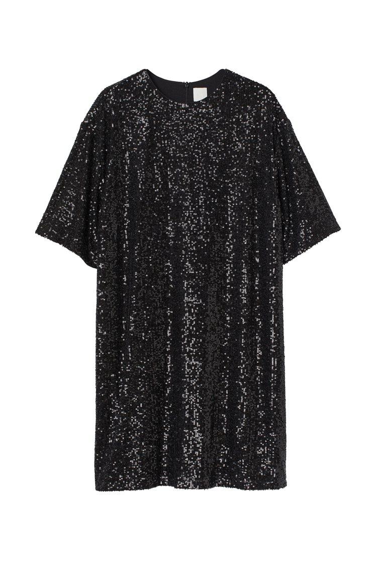 H&M假日系列女裝亮片上衣999元。圖/H&M提供