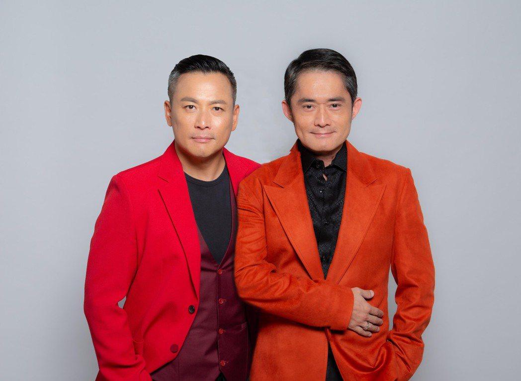 江宏恩(左)和江國賓首度在「天之驕女 」中演對手戲。圖/三立提供