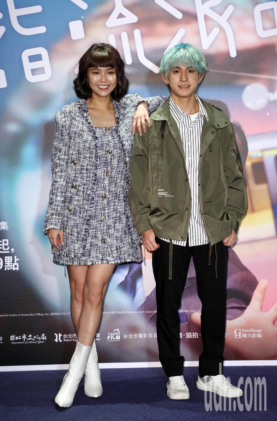 「戒指流浪記」特映會,演員黃沐妍(左起)、林暉閔等人出席。記者曾吉松/攝影