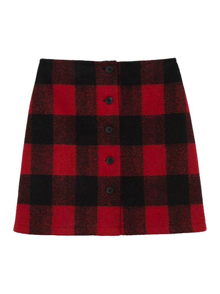 格紋短裙,7,580元。圖/agnès b.提供
