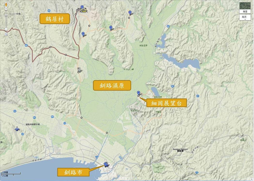 北海道當地幾個重要的復育地點。圖/山林藪記提供