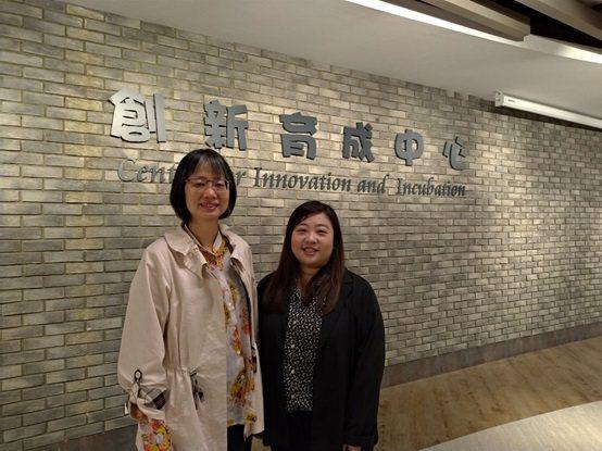 吳菁宜教授(左)與莊宜靜助理教授。 楊連基/攝影