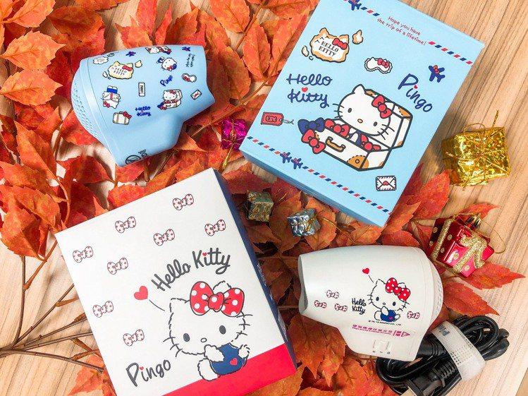 全家便利商店推出Hello Kitty極輕隨身掌型吹風機,共2款、首批限量各50...