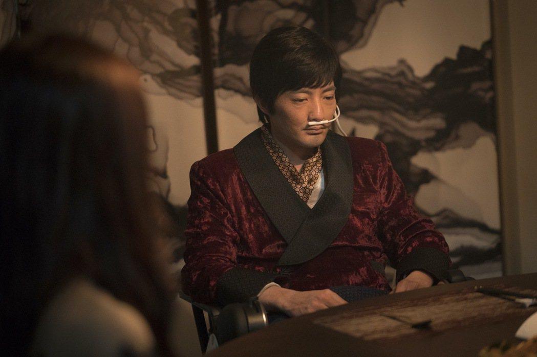 古斌在「緝魂」中飾演瀕死富豪。圖/威視提供