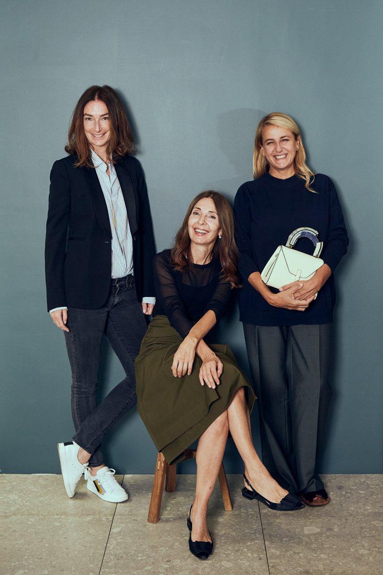 (左起)Valextra全球首席執行官Sara Ferrero、義大利現代大理石...