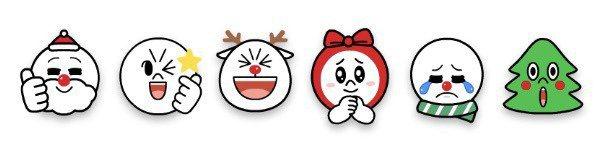 表情圖示也有耶誕主題小彩蛋。圖/摘自LINE台灣官方部落格