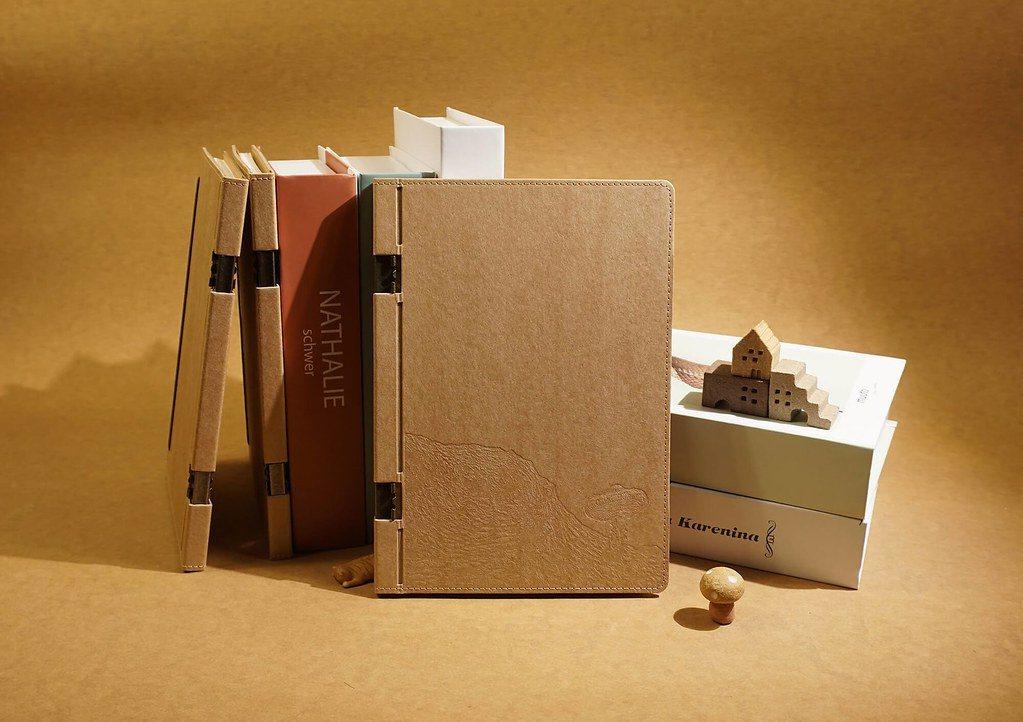 聖誕綠禮:地球好樂 回收紙筆記本。圖:地球好樂。 圖/環境資訊中心