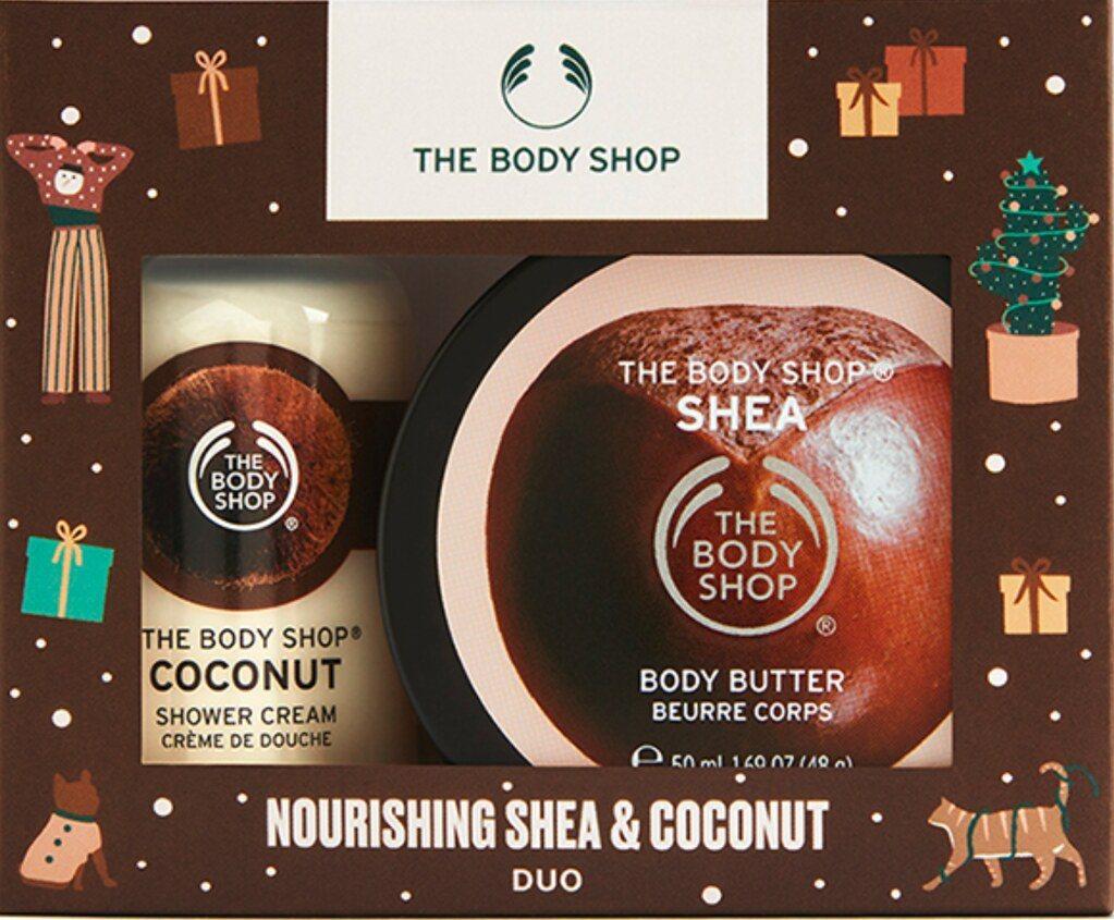 聖誕綠禮: The Body Shop美體小舖 乳油木果香迷你原裝禮盒。圖:Th...
