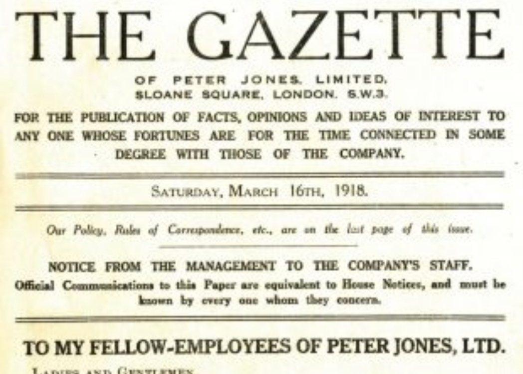 《Gazette》於1918年3月16日首次印刷,此後每週出版一次。 圖/J...