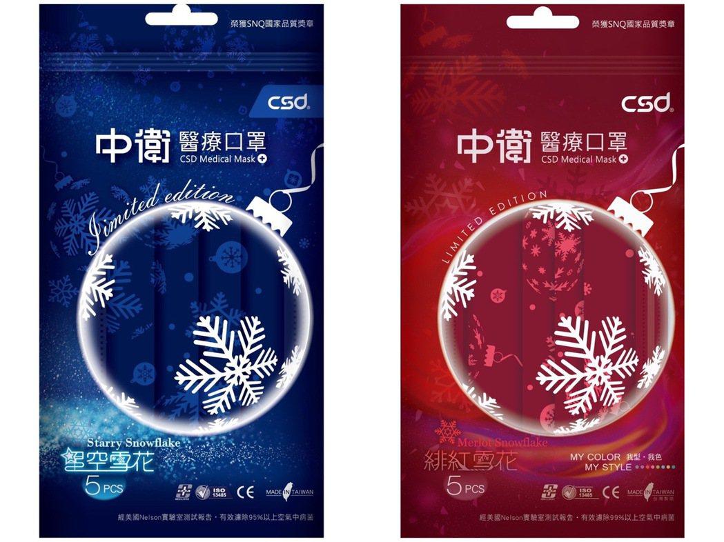 中衛雪花口罩(5片/包),售價79元,福利卡友加贈100福利點,12月22日起陸...