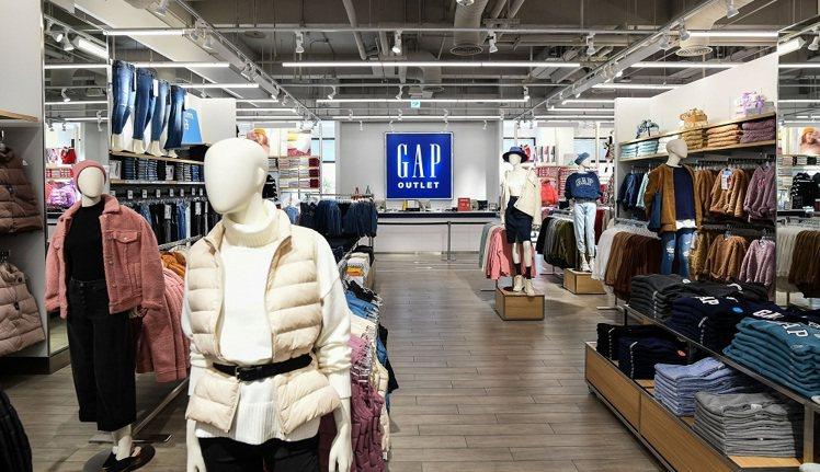 台中麗寶門市是GAP在台第四家Outlet據點,也是品牌在中台灣的第一家。圖/G...