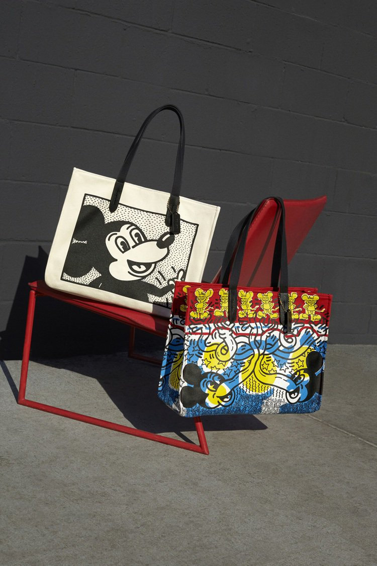 Disney Mickey Mouse x Keith Haring托特包,各9...