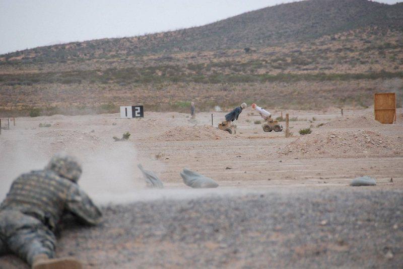 自主枪靶机器人厂商Marathon Targets实际演示影像。画面翻摄:FACEBOOK/Marathon Targets(photo:UDN)