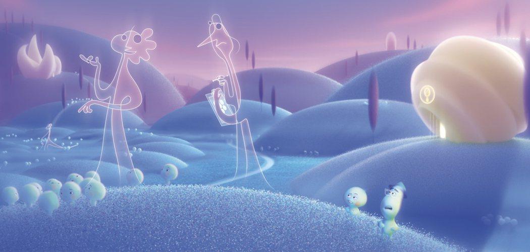 「靈魂急轉彎」打造出夢幻繽紛的靈魂世界。圖/迪士尼提供