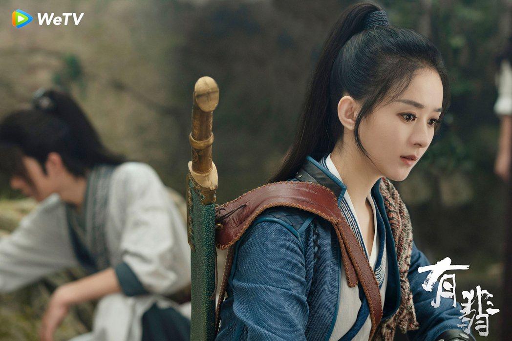 趙麗穎在「有翡」劇中飾演破雪刀第三代繼承人,是名江湖女俠。圖/WeTV海外站提供