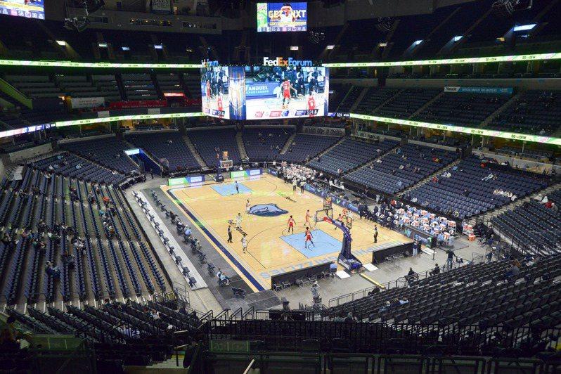 NBA 21宣布,曼菲斯灰熊隊接下來3場比賽均已延期。 美聯社。