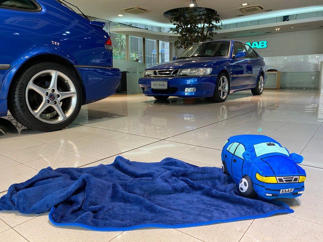Saab兩用抱枕。 圖/商富汽車提供