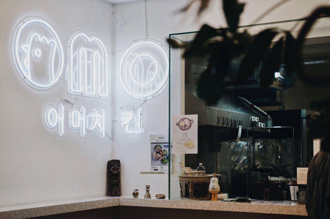 女兒開的OMO Chicken韓式炸雞店,也開賣爸爸的家常菜。 圖/沈佩臻攝影